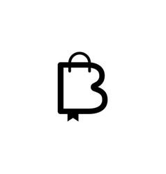 Letter b book store graphic design template vector