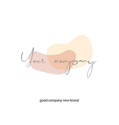logo template with minimal pastel shapes business vector image