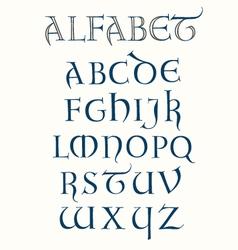 Lombardic Alphabet vector image