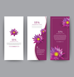 lotus flower flora banner for hotel salon beauty vector image