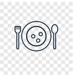 Matzo ball soup concept linear icon isolated on vector