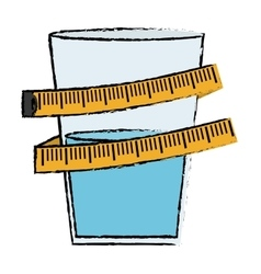 Measuring tape diet icon image vector