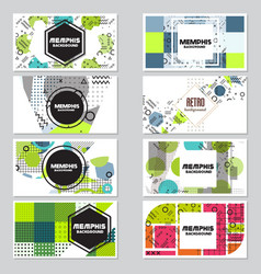 Memphis background style design template vector