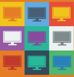 monitor icon vector image
