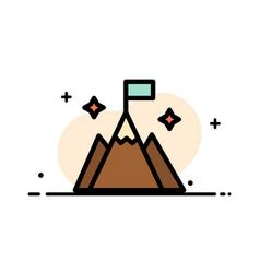 Mountain flag user interface business flat line vector