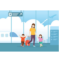 people traveling vector image