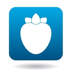 Persimmon icon in flat style vector