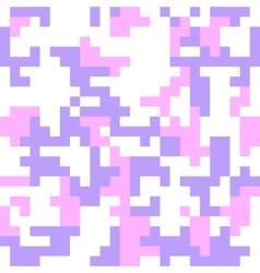 Pixel camo seamless pattern Fashion pink trendy vector image