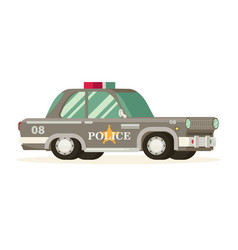 Police car with the sheriffs star on the door vector
