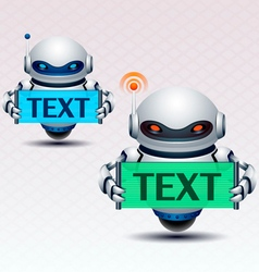 Robot and banner vector
