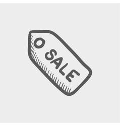 Sale tag sketch icon vector image