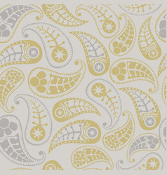 Seamless paisley texture for your design endless vector