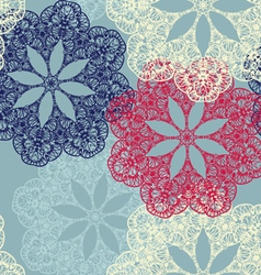 Seamless pattern with circular ornaments like a vector image