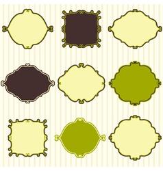 Set of cute vintage frames vector image