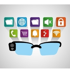 Smart glasses wearable technology modern shadow vector