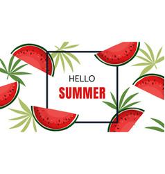 summer holiday banner design vector image