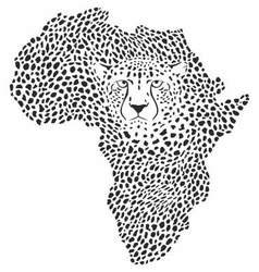 Symbol Africa in cheetah camouflage vector image
