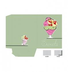 template for folder design vector image