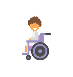 the patient is in the stroller vector image