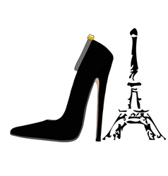 The shoes of Paris vector