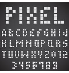 White Pixel Font vector
