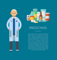 with medical doctor character vector image