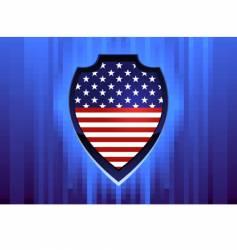 american shield vector image