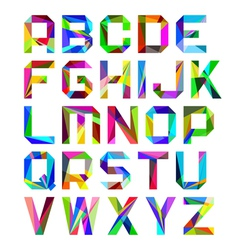 Bright alphabet letters vector image vector image