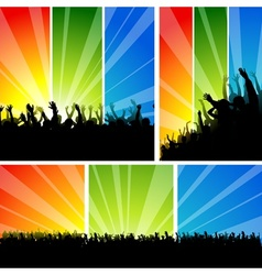 Crowd at the Concert Set vector image vector image