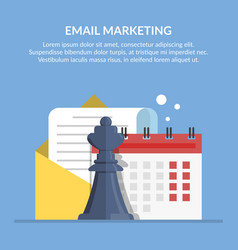 email marketing advertising mailing by mail vector image