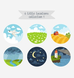 Little locations collection 1 vector image vector image