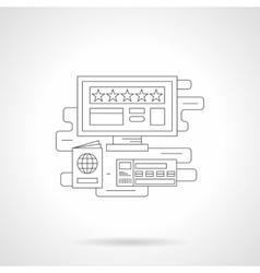 Online booking detail line icon vector