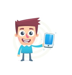 Overview of the new smartphone vector image vector image