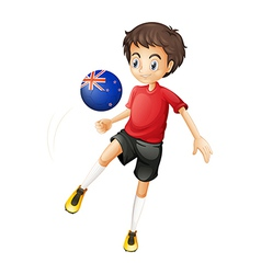 A football player from New Zealand vector image
