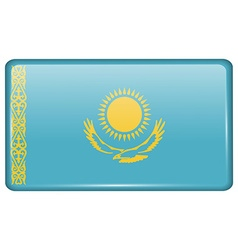 Flags Kazakhstan in the form of a magnet on vector image vector image