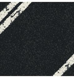 fragment of asphalt road vector image