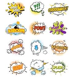 Set of Retro Comic Book Design elements vector image