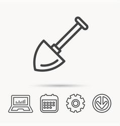 Shovel icon garden equipment sign vector