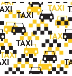 Taxi Seamless pattern with symbols taxi vector image