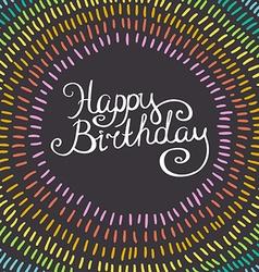 wreath with colorful rainbow strokes Birthday card vector image vector image