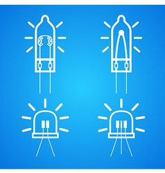 Bulb icon set vector image vector image