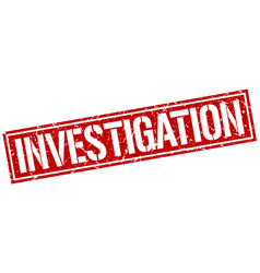 Investigation square grunge stamp vector