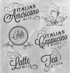 Names of coffee drinks 2 vector image