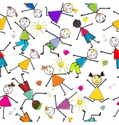 pattern with children vector image vector image