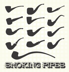 Retro Smoking Pipes vector image vector image