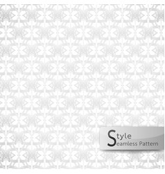 Abstract seamless pattern floral mesh loop white vector