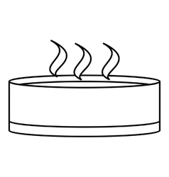 Bowl icon outline style vector image