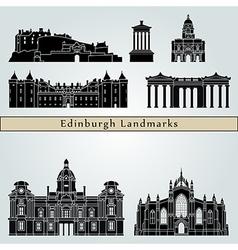 Edinburgh landmarks and monuments vector image