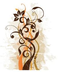 grunge floral design vector image vector image