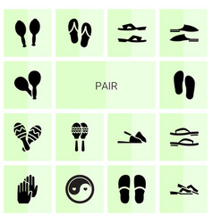 14 pair icons vector